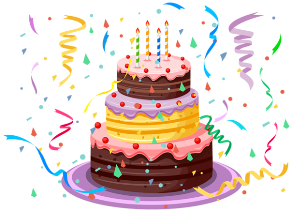 6 birthday clipart
