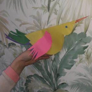 Маша К., 1 кл. Птицы (конструирование из бумаги)